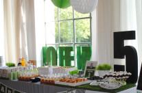 Buffet festa compleanno tema calcio