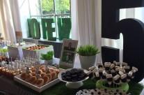 Buffet festa tema calcio Juve