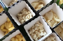 Party buffet festa tema calcio chips e popcorn