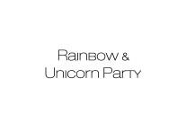 Party a tema unicorni e arcobaleni