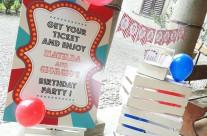 festa compleanno tema luna park