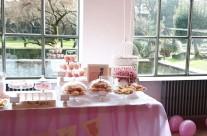 allestimento tavolo buffet baby shower party bergamo