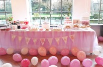 allestimento tavolo buffet baby shower party compleanno bergamo